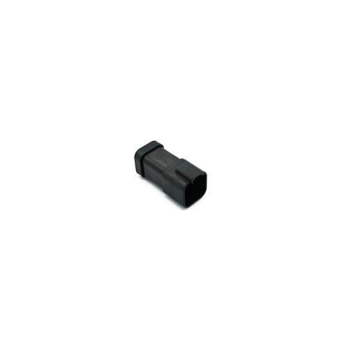 Deutsch DT receptacle 6-way, end cap, black