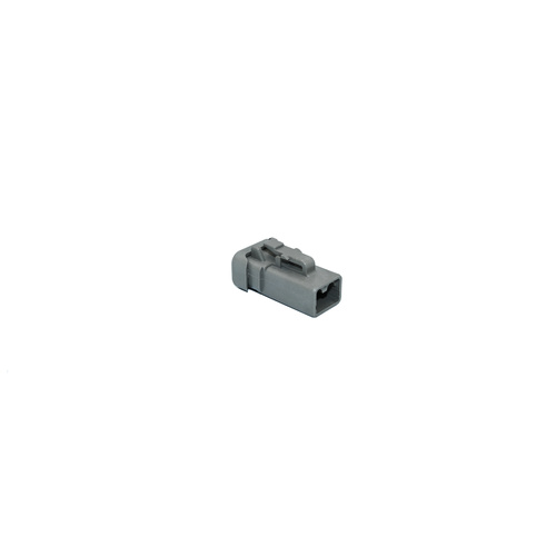 Deutsch DTP plug 2-way, end cap, grey