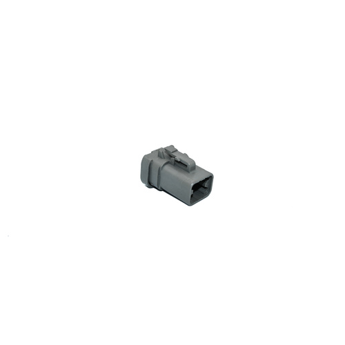 Deutsch DTP plug 4-way, end cap, grey